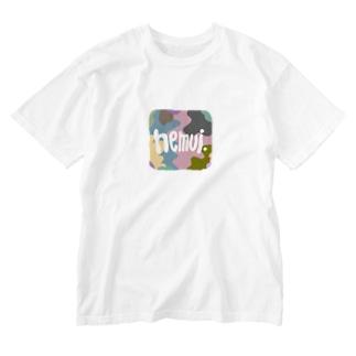 眠い Washed T-shirts