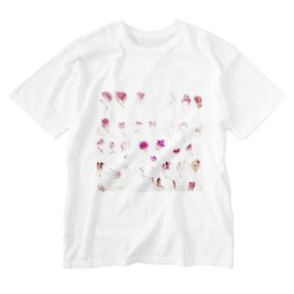 ハナビラ Washed T-shirts