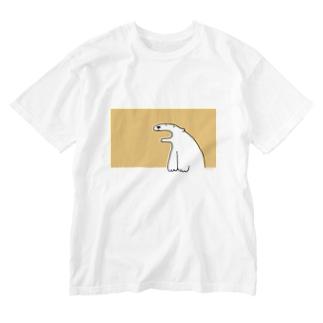 しろくまさん(おれんじ) Washed T-shirts