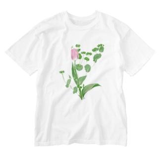 チューリップ Washed T-shirts