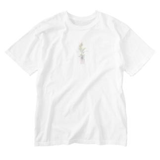 観葉植物 Washed T-shirts