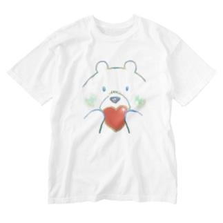 愛するしろくま Washed T-shirts