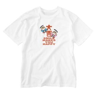 ハピハピだいきち Washed T-shirts