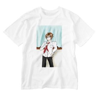 ネクタイを緩める Washed T-shirts