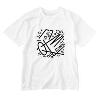 しんどいくんちょっと大きめ Washed T-shirts