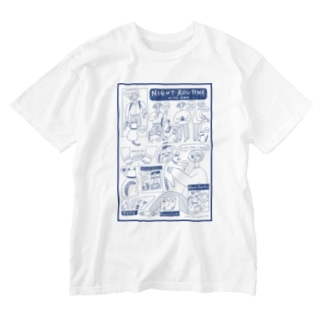 NIGHT ROUTINE with CAT Washed T-shirts
