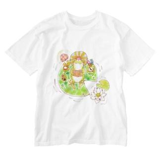 かえるくんのお気に入り Washed T-shirts