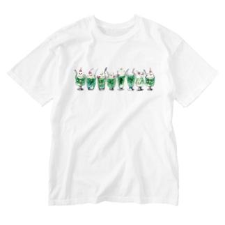 クリームソーダ先輩8人前 Washed T-Shirt