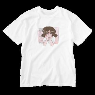 みどりいろ通信の夢中に Washed T-shirts
