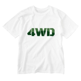 4WDなそいつ Washed T-shirts