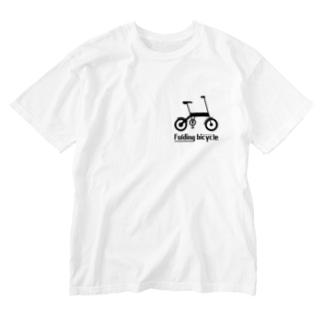 折りたたみ自転車 Washed T-shirts