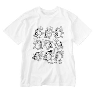 踊るよ、さかな Washed T-shirts