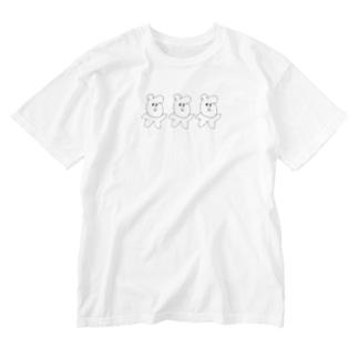 ぽよんっぽよんっ Washed T-shirts