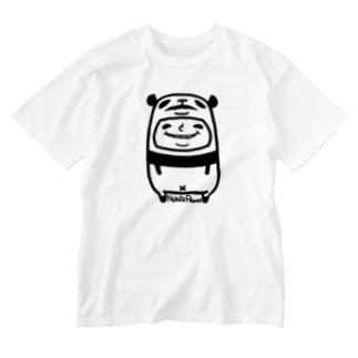 ねこぜパンダと少年 Washed T-shirts