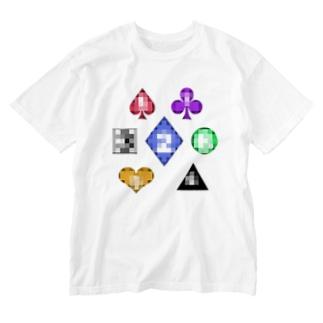 トランプ Washed T-shirts