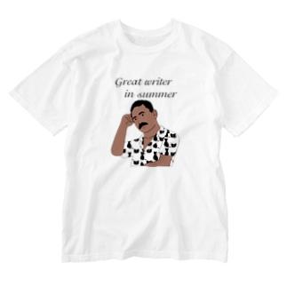 夏の文豪 Washed T-shirts