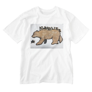 グリズリー 熊 クマ Washed T-shirts