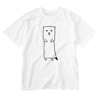 おこじょ Washed T-shirts