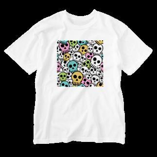 IZANAGIのシンプルドクロ~ Washed T-shirts