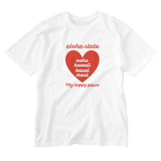 mahaloa968のaloha state (ハート) Washed T-shirts