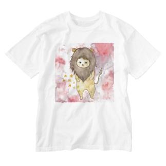 しし座のネコ Washed T-shirts