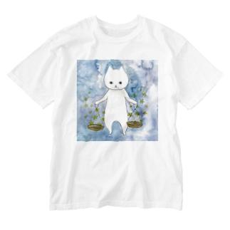 てんびん座のネコ Washed T-shirts