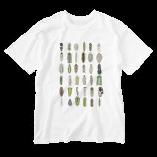 suzuko.momoyamaのわたしのイモムシ Washed T-shirts