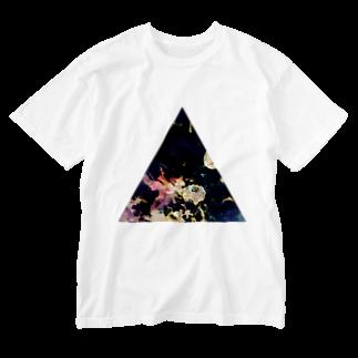 【三角形の穴】の▲5【三角形の穴】  Washed T-shirts