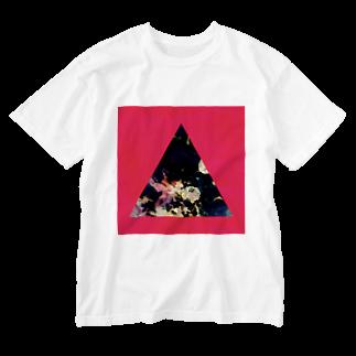 【三角形の穴】の▲5-P【三角形の穴】  Washed T-shirts