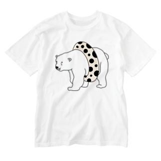 TakaJumpのTapioca White Bear Washed T-shirts