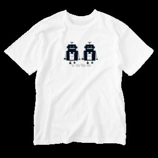 mashibuchiのくろロボットコンビ Washed T-shirts