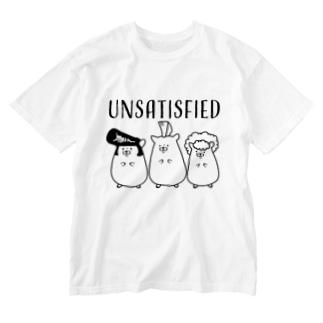 不満ハムスター Washed T-shirts
