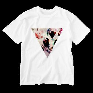 【三角形の穴】の▼4【逆三角形の穴】 Washed T-shirts