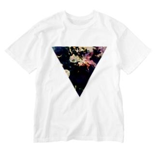 【三角形の穴】の▼5【逆三角形の穴】 Washed T-shirts