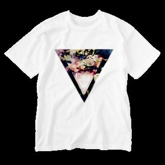 【三角形の穴】の▼5-2【逆三角形の穴】 Washed T-shirts