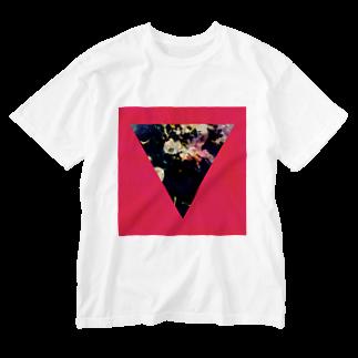 【三角形の穴】の▼5-P【逆三角形の穴】 Washed T-shirts