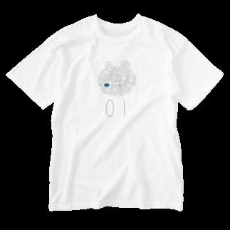 mashibuchiのナンバー01くま Washed T-shirts