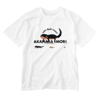アカハライモリ! Washed T-shirts