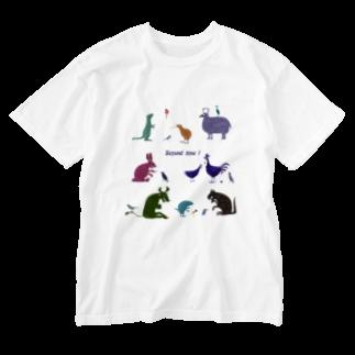 nachau7の動物たちからのメッセージ Washed T-shirts
