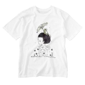 雨のアト Washed T-shirts