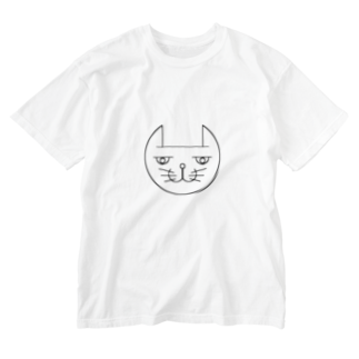 ヒロさんのグッズのネコだお Washed T-shirts