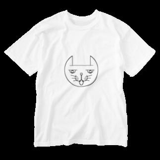 ヒロさんのグッズのネコだお(口開け) Washed T-shirts