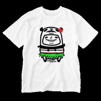 NEKOZE PANDAのハワイアンぱんだ Washed T-shirts