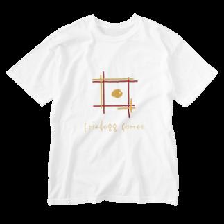 medamayaki-storeのFriedegg gamesオリジナルグッズ Washed T-shirts