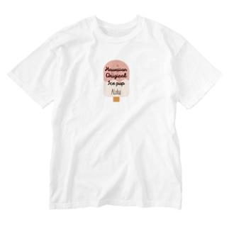 アイスバー(アロハ) Washed T-shirts