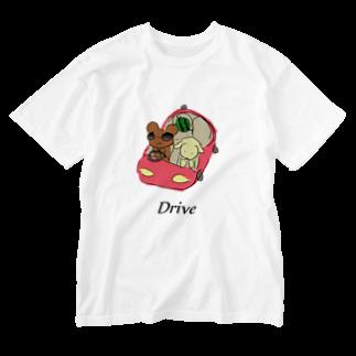 ドド美 ショップのバカンス・Drive  Washed T-shirts