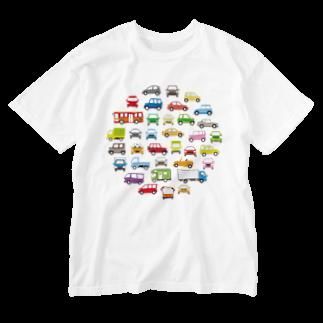 かわいいデザインのグッズ屋さんの色んな車のサークルギャラリー Washed T-shirts