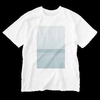 フォトモアの真夜中の海 Washed T-shirts