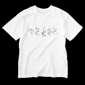 VanderWaalsのヤモリラフ Washed T-shirts