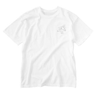 へんなとり Washed T-shirts